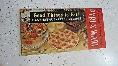 Be a Better Cook with PYREX WARE Vtg Advertising and Recipe Menu Booklet Litho