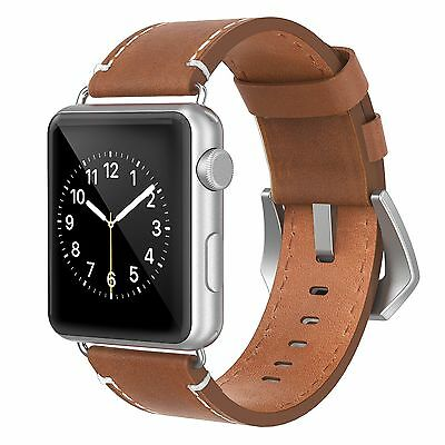 Strap Band Genuine Leather For Apple Watch Series 2 Accessory Black 42mm
