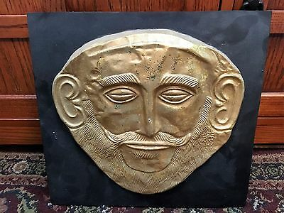 "12"" X 12"" Mask of Agamemnon. Exact copy of famous death mask forund in Mycenae"