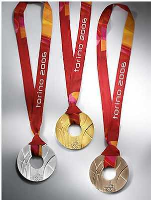 Torino/Turin 2006 Olympic Medals & Ribbons Set - Gold/Silver/Bronze !!!