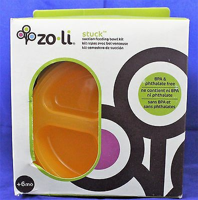 ZoLi STUCK Suction Feeding Bowl Kit - Orange NEW