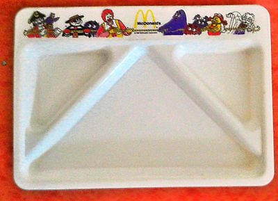 Vintage Collectible 1987 McDonald's McDonald's White Plastic Divided Food Tray