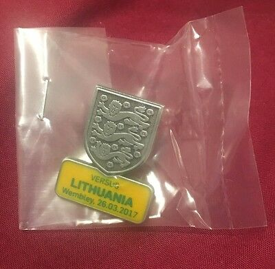 England v Lithuania Football Wembley World Cup Official VIP Badge Pin Collectors