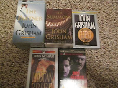Lot of 5 John Grisham audio books on tape