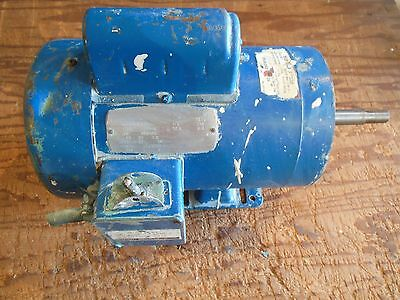 Industrial Electric Motor 1HP 1725RPM 1PH TEFC -  C Face w Base - 115 or 230 VAC