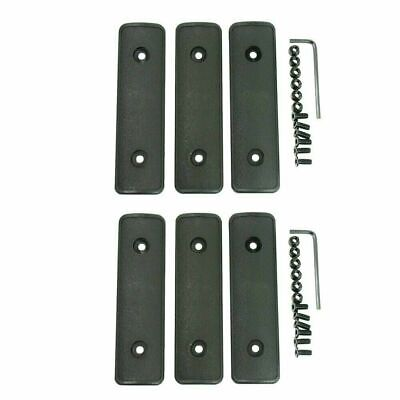 """Pack of 6 KeyMod Rail Covers / Panel Polymer Textured 4"""" with Screws - Black"""