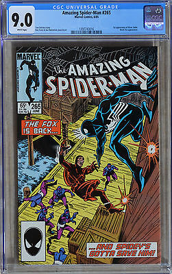 AMAZING SPIDER-MAN #265 (1985) CGC 9.0 (VF/NM) WHITE Pages 1st App Silver Sable