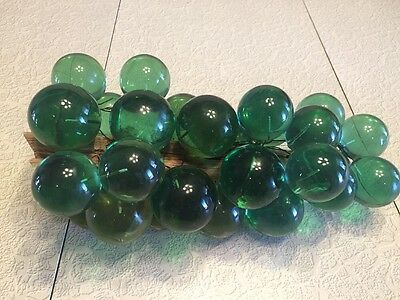 Vintage Lucite Resin Green Grapes Driftwood 1960s 1970s