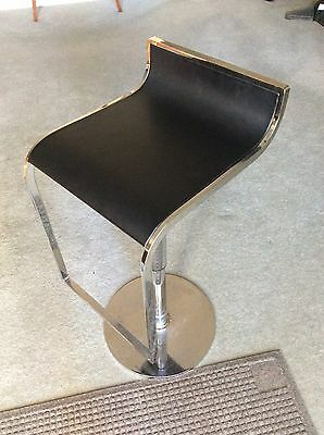 Cafe Bar Stools Restaurant Chairs X 12 Chrome And Leather