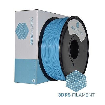 NEW 3DPS Glow In The Dark Blue ABS 1.75mm 3D Printer filament