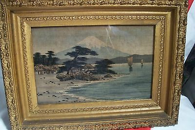 Antique Japanese W./col. On Silk Landscape Painting - L-B 370