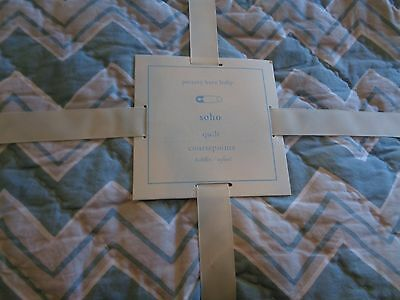 Pottery Barn Kids SOHO blue crib quilt  New with tags