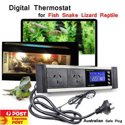 LED Reptile Snake Timer Aquarium Digital Temp Controller Heat Cooling Thermostat