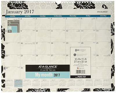 "AT-A-GLANCE Wall Calendar 2017, Monthly, Madrid, 14-7/8 x 11-7/8""  (PM93-707)"