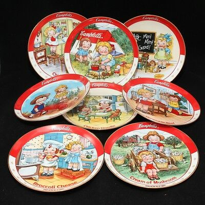 Set of 8 DANBURY MINT CAMPBELLS SOUP PLATE  'THE CAMPBELL KIDS'