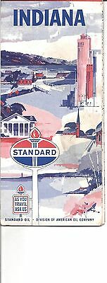 Vintage Road Map Standard Oil Company Indiana 1960