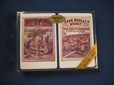 2 Decks Congress Vintage Playing Cards Buffalo Bill  Frank Manley Sealed