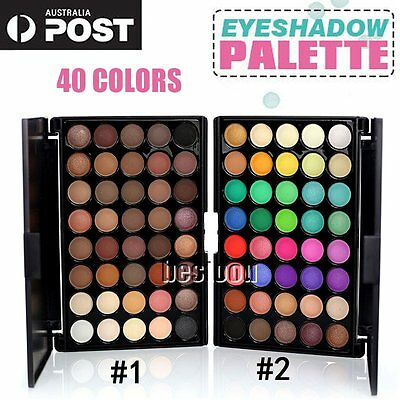 40 Colours Matte Shimmer Smoky Eye Shadow Makeup Cosmetic Eyeshadow Palette GT