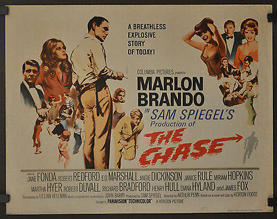 The Chase 1966 Original 22X28 Movie Poster Marlon Brando Jane Fonda
