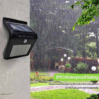 16 LED Solar Power Sensor Wall Light Security Motion Weatherproof Outdoor Lamp