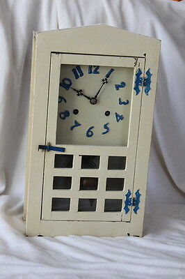 Antique Vintage Handmade Country style Kitchen Shelf Clock Works but Not Chimes