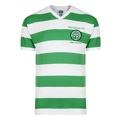 Official Retro Celtic 1980 Scottish Final Retro Football Shirt 100% POLYESTER