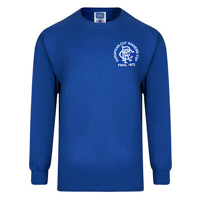 Official Retro Rangers 1972 European Cup Winners Cup Retro Shirt 100% COTTON