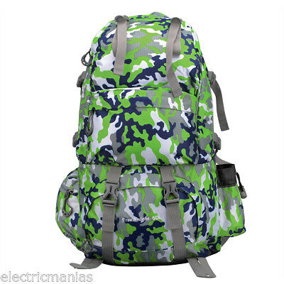 NEW 50L Mountaineering Bag Rucksack Tactical Backpack Hiking Camping Travel Pack