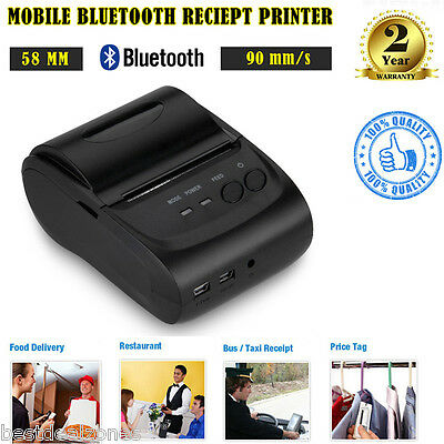 USB Wireless 58mm Bluetooth POS Thermal Dot Receipt Printer for Taxi Price Tag