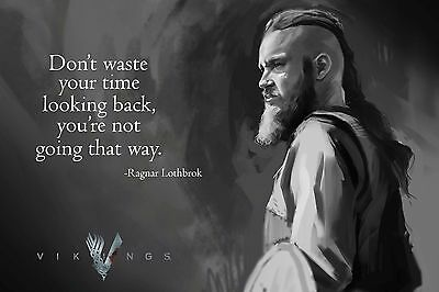 "VIKINGS Ragnar Lothbroby Quotes Actress Poster silk prints 12x18"" VK22"