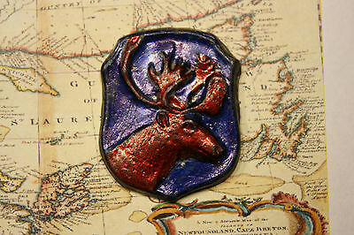 War Newfoundland Regiment Caribou Insignia - Made Of Lead - Age Unknown