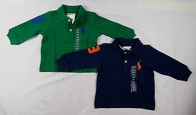Ralph Lauren Baby Boys Long Sleeve Pony Polo Shirt size 6 months