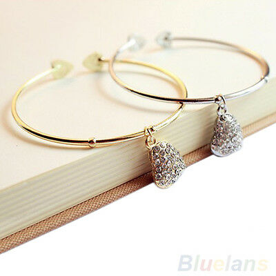 Diamante Charm Bracelet Silver or Gold Boho Jewellery Bangle Bohemian A172