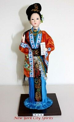 Traditional Chinese Art Silk Figurine Doll Statue-Jia Yingchun