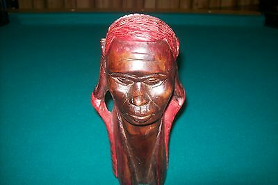 Vintage African Hand Carved In Kenya Beautiful Wooden Female  Figure/Sculpture