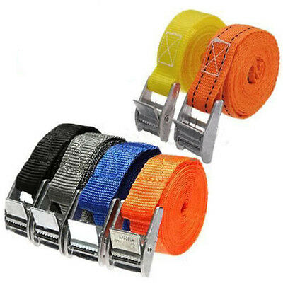 Nylon Cam Buckle Tie Down Luggage Straps Quick Release Cargo Load Lash 1pcs