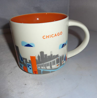 Starbucks Chicago City Mug You Are Here Collection 2014