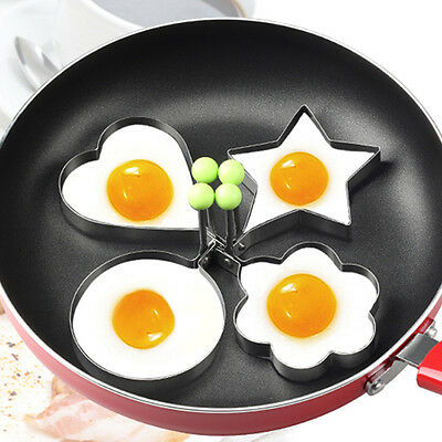 Stainless Steel Pancake Mould Mold Ring Cooking Fried Egg Shaper Kitchen Tool FA