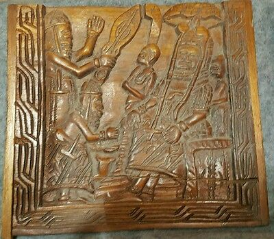 wood picture hand carved - African art from Benin