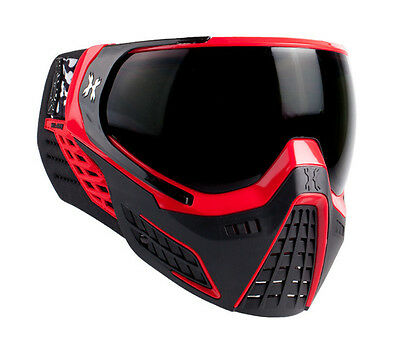 HK Army KLR Goggles - Fire - Red / Black w/ Smoke Thermal Lens