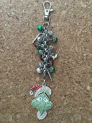 The Grinch Who Stole Christmas Inspired Keychain/ Purse Charm Keychain