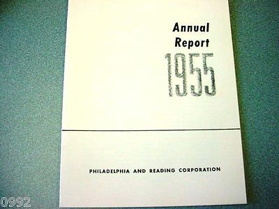 1955 Philadelphia & Reading Corporation Annual Report (Nice Old Anthracite Item)