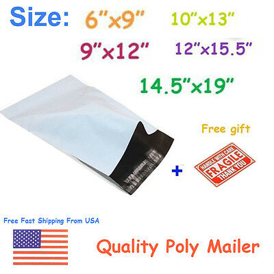 Poly Mailers Shipping Envelope Mailing Couture Boutique Bag Self Sealing 2.5 mil