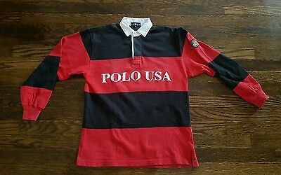 Vintage polo ralph lauren stadium 92 indian p wing ski cookie rugby  SIZE M KIDS