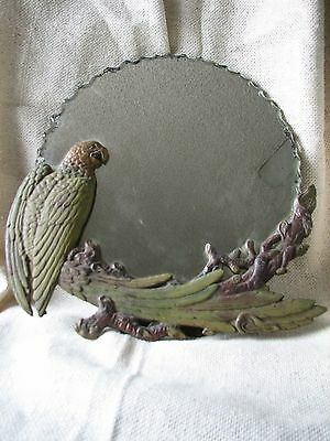 Vintage Antique CAST IRON PARROT MIRROR Bradley and Hubbard