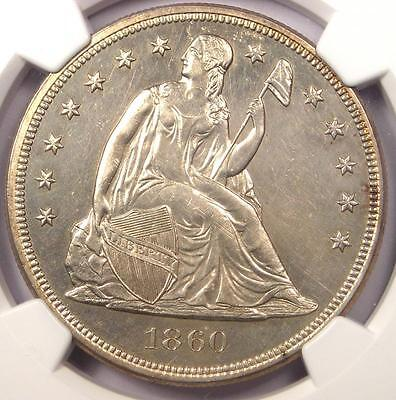 1860 Proof Seated Liberty Silver Dollar $1 - NGC Proof Details (PR/PF) - Rare!