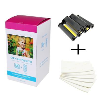"""Compatible for Canon KP-108IN Selphy Color Ink Photo Paper 6"""" 4R CP910 CP900"""