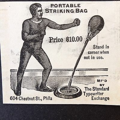 Antique 1896 Ad (1800-5)~Portable Striking Bag Chestnut St. Phil. Pa.