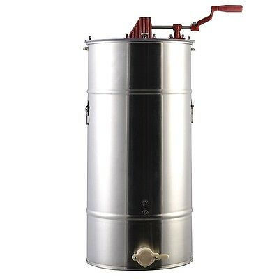 Large 2 Frame Honey Extractor Beekeeping Equipment Stainless Steel Silver