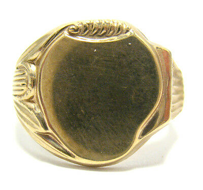 Victorian 10K Gold Filled Signet Initial Ring Size 11.5  8.6 Grams 17 Mm #651